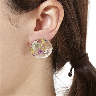 [ナチュール]round flower earring