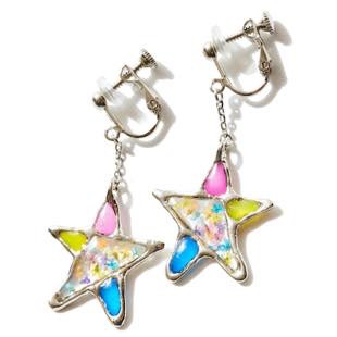 [レアセル]Stained glass Star Earings
