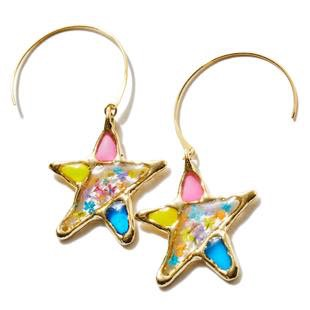[レアセル]Stained glass Star Hook Earrings