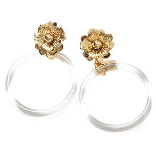 [リミュエ]flower ring clear(earring)