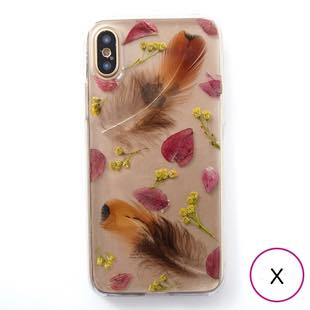 [ローズウィズトゥー]feather for iPhone X / XS