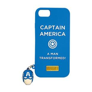 YOOY MARVEL SILICONE CHARM SINGLE CAPTAIN AMERICA for iPhone 8 / 7 / 6s / 6