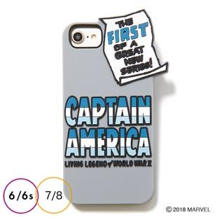 [ヨーイ]CAPTAIN AMERICA SILICONE CASE for iPhone 8 / 7 / 6s / 6