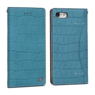 DESIGN SKIN Wetherby・Premium Croco Blue for iPhone7Plus