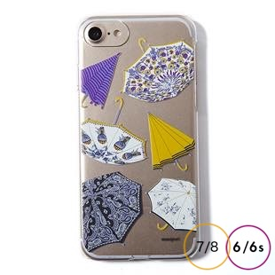 [マニプリケースコレクション]manipuri case collection umbrella Clear for iPhone 8/7/6s/6
