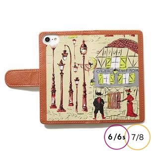 [マニプリケースコレクション]manipuri case collection chat orange diary for iPhone 8/7/6s/6