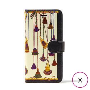 [マニプリコレクション]manipuri case collection tassel diary for iPhone X / XS