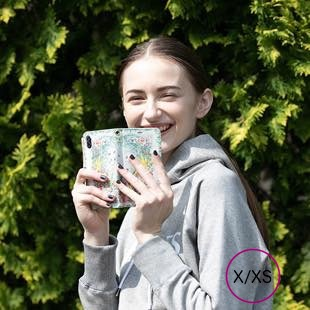 [マニプリケースコレクション]kiitos×manipuri case collection park grey diary for iPhone X/XS