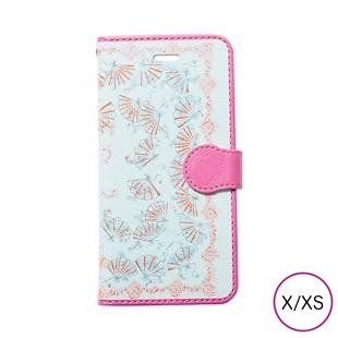 [マニプリケースコレクション]manipuri case collection fan blue diary for iPhone X/XS