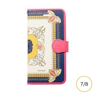 [マニプリケースコレクション]manipuri case collection embremrope navy diary for iPhone 8/7