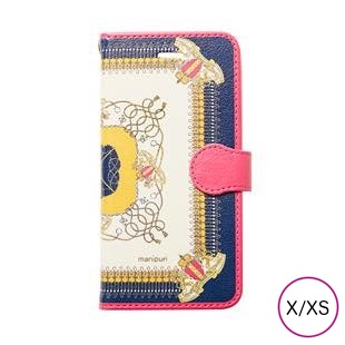 [マニプリケースコレクション]manipuri case collection embremrope navy diary for iPhone X/XS