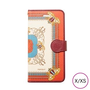 [マニプリケースコレクション]manipuri case collection embremrope brown diary for iPhone X/XS