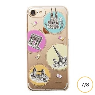 [マニプリケースコレクション]manipuri case collection trip Clear for iPhone 8/7