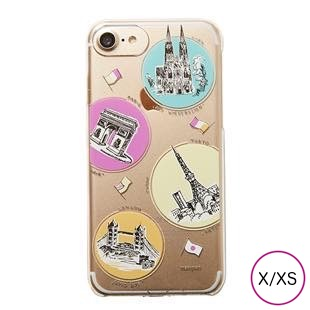 [マニプリケースコレクション]manipuri case collection trip Clear for iPhone X/XS
