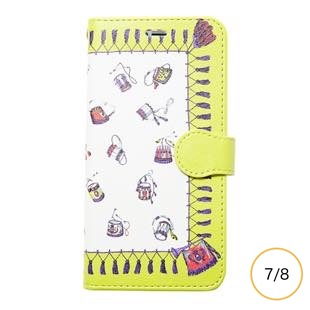 [マニプリケースコレクション]manipuri case collection festival yellow diary for iPhone 8/7