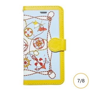 [マニプリケースコレクション]manipuri case collection marine yellow diary for iPhone 8/7