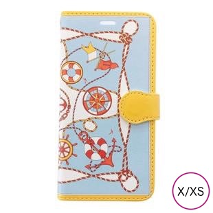 [マニプリケースコレクション]manipuri case collection marine yellow diary for iPhone X/XS