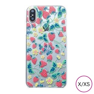 [マニプリケースコレクション]manipuri case collection strawberry Clear for iPhone X/XS