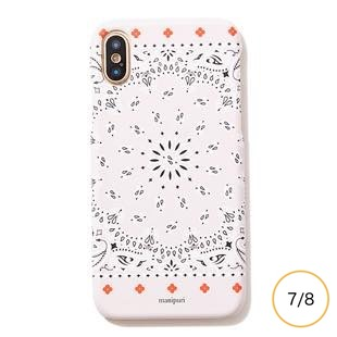 [マニプリケースコレクション]manipuri case collection A-2 FLOWER MAT BEIGE for iPhone 8/7