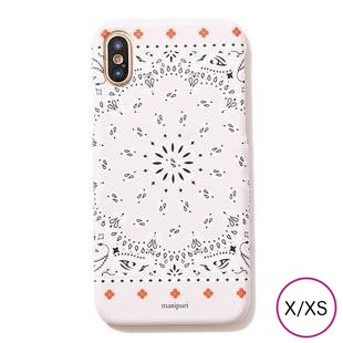 [マニプリケースコレクション]manipuri case collection A-2 FLOWER MAT BEIGE for iPhone X/XS