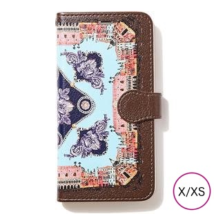 [マニプリケースコレクション]manipuri case collection CITY-CHARCOL diary for iPhone X/XS