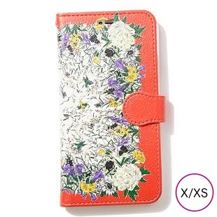 [マニプリケースコレクション]manipuri case collection PARADAISE- ORANGE diary for iPhone X/XS