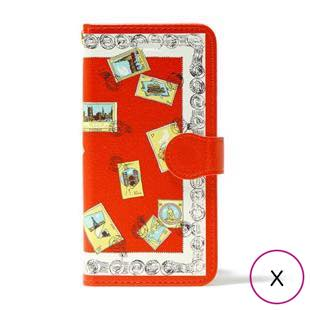 [マニプリコレクション]manipuri case collection stamp diary for iPhone X / XS