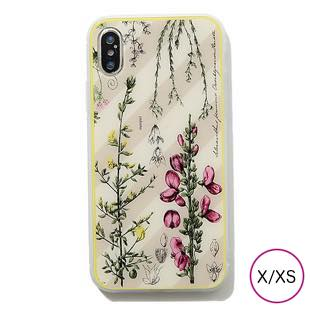 [マニプリケースコレクション]manipuri case collection flower book pink ガラスケース for iPhone X/XS