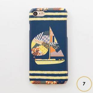 [マニプリコレクション]manipuri case collection patchwork yacht for iPhone 8 / 7