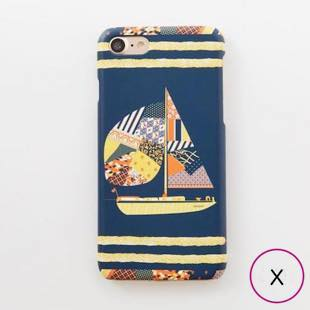 [マニプリコレクション]manipuri case collection patchwork yacht for iPhone X