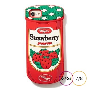 [ウィグルウィグル]Strawberry SILICONE for iPhone8/7/6s/6