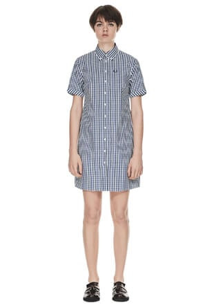 Reissues S/S Gingham Shirt Dress