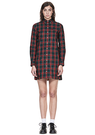 Reissues L/S Tartan Shirt Dress