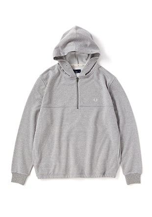 Zip Neck Hooded Sweat
