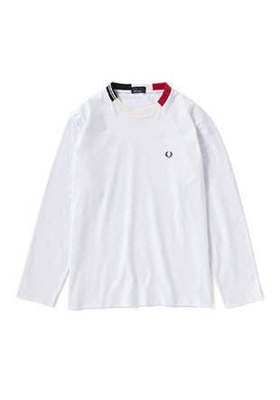 Jaquard Neck L/S T-Shirt
