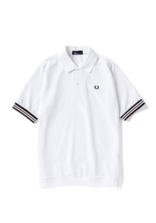 Bomber Stripe Rib Polo Shirt