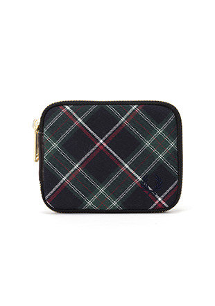 Zip Around Tartan Billfold