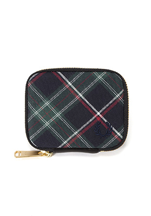 Zip Around Tartan Key Case