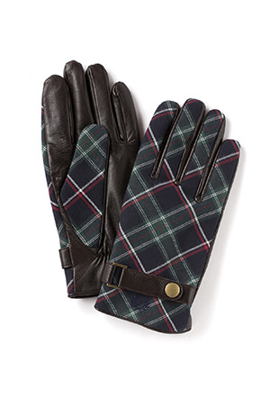 Leather / Woven Mix Gloves