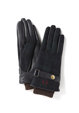 Woven / Leather Mix Gloves