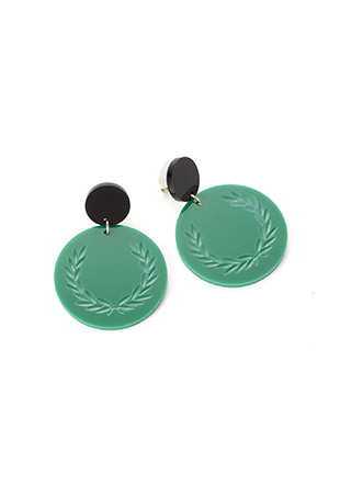 Tipped Disc Drop Earrings