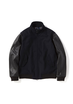 Texture Mix Harrington Jacket