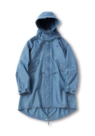 Denim Fishtail Parka