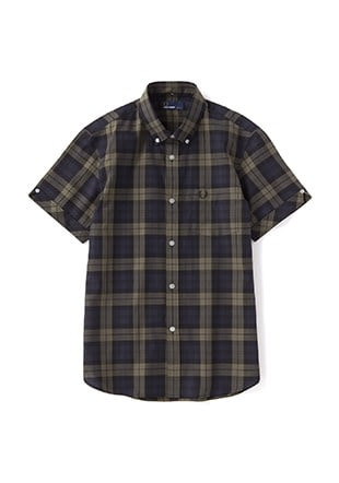 Check S/S Shirt  (Laurel Leaf Dyed)
