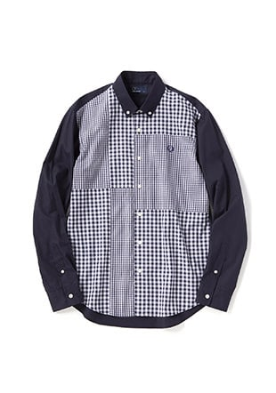 Gingham Mix Panel Shirt