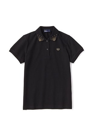 Embroidered Collar Pique Shirt