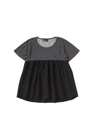 Panel Short Sleeve Top