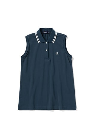 Sleeveless Pique Shirt