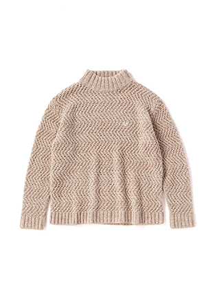 Mock Neck Low Gauge Sweater