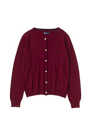Tipped Crew Neck Cardigan